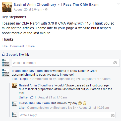 CMA exam success stories 1