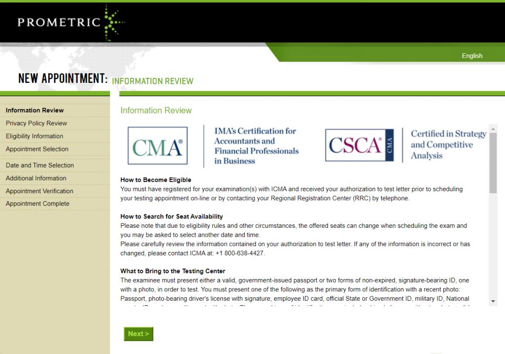 cma eligibility details