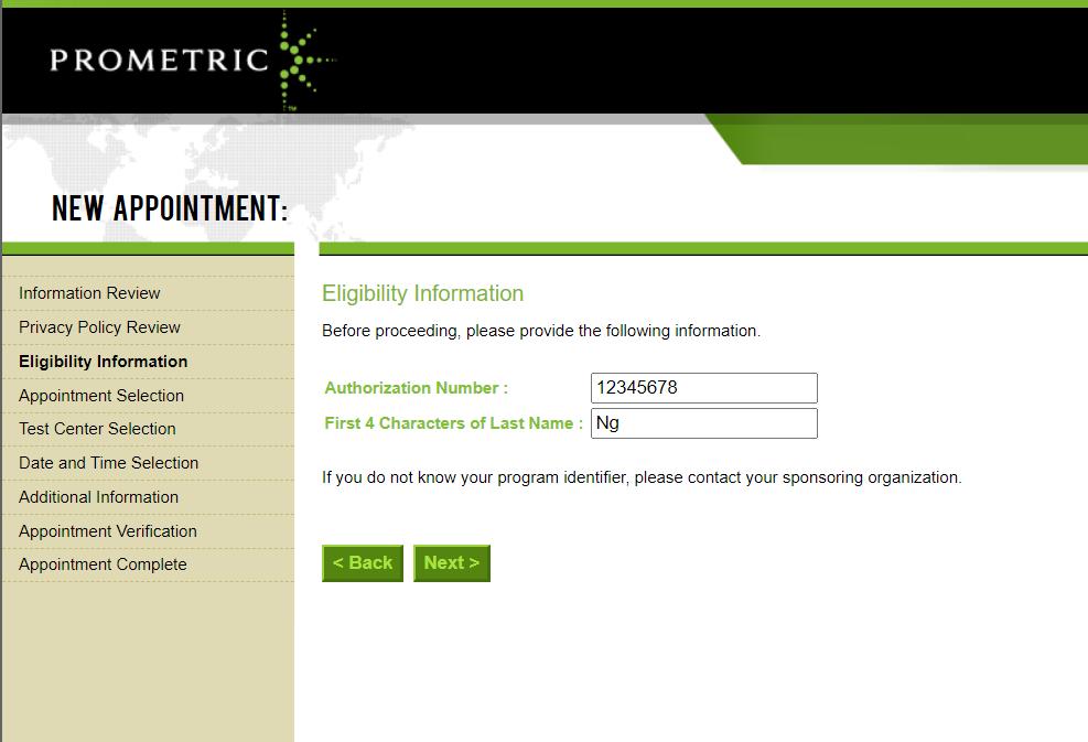 cma prometric authoriziation number